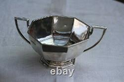 Vintage solid silver Tea and Coffee set, Sheffield/London 1925/30, total 1582gms