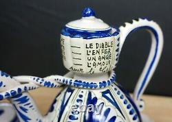 Vtg CERAMIC COFFE POT SET Made in Italy Hand painted Espresso Tallyrand 17 pcs