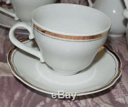 Vtg Gold Trim Kahla Porcelain Tea/demitasse Coffee Set! 15 Pcs! Gdr East Germany