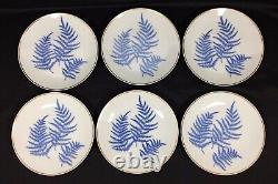 Vtg Lichte German Porcelain Coffee/Tea Set 6 Desserts/Cups/Saucers Creamer Sugar