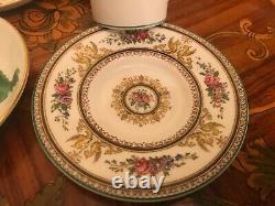 Wedgwood & Bavaria 6 Cups and Saucers Vintage German Coffee Porcelain Set