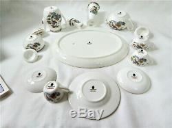 Wedgwood Miniature Tea Coffee Set Kutani Crane English Porcelain Vintage 15pcs