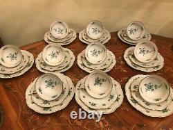 10 Tasses 10 Sauces Plaques De Gâteau Veb Antique Vintage Ensemble De Café De Porcelaine Allemande