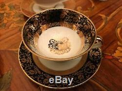 13 Tasses Vintage 13 Soucoupes 1 Tasse Supplémentaire Allemande Bavaria En Porcelaine Set Café