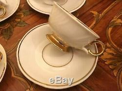 15 Vintage Tasses 15 Saucer Beige Arabia Finlande Porcelaine Set Café