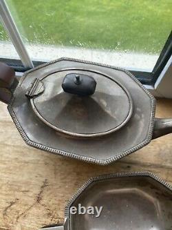 1932 George VI Silver Four Piece Tea And Coffee Set. Style Art Déco Pas De Ferraille