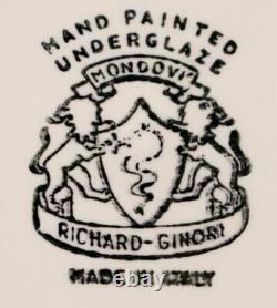 1950 Richard Ginori Mondov-servizio Caffè Ceramica Vintage Cafetière Gio Ponti