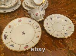1960 Vintage 5 Tasses Saucers Plaques De Gâteau Ensemble De Café Danois Kpm