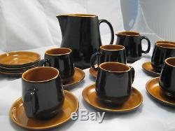 19 Vintage Prinknash Céramique Vaisselle Thé Café Set Angleterre