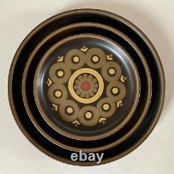 44 X Denby Arabesque 8 Service Salle À Manger/table Et Cafetière Vintage/rétro 70s