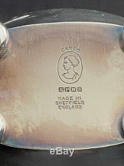 5pc Vintage E H Parkin Silver Plate Service Cameo Plateau Set Sheffield