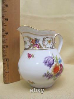 5pc Vintage Schumann Empress Dresden Flowers Coffee Pot, Creamer, Sugar Bowl Set