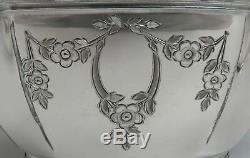 5pc Vintage Wallace Plate Main D'argent Gravé Thé & Café Set