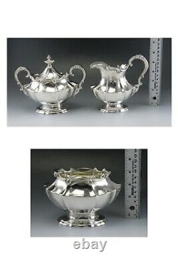 6pc Vintage 1951 Silver Plate Reed - Barton Victorian Tea/coffee Set Avec Plateau