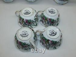 9 Pièce Vintage Wedgwood Indian Tree Pattern Bone China Coffee/tea Set