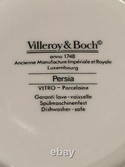 Ancien Ensemble De Villeroy & Boch Persia Pattern 8 Tasses De Café/thé Et 8 Sauces