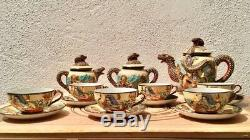 Antique Café Set / Set Vintage Del Caffè Dans Porcellana Satsuma. Ancien