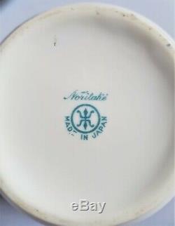 Antique Noritake H / Or Peint Moriage Vintage Thé / Café Set Coupes & Saucers