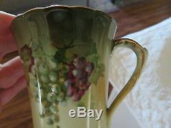 Antique Vintage Bavaria Limoges Cocoa Set Café 6 Piece Set Peintes À La Main Signe