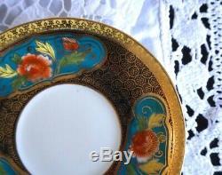 Antique / Vintage Noritake Porcelaine Set Café Avec 4 Boîtes À Café Tasse 11 Pcs