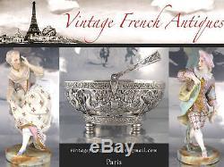 Antiquité Vintage Française Saglier Frères Plateau Argent Thé Et Café Ébène 4 Pcs