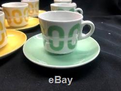 Arabie Saoudite De Finlande Vintage Tasse À Café / Tasse Et Soucoupe Ensemble De 6! MID Century Green