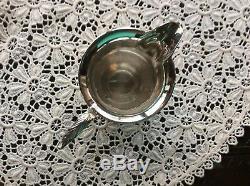 Argent Vintage Plaqué 4 Café Pièces Avec Plateau Oblong Tous Les Beaux Articles