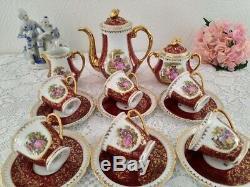 Art Deco, Service À Café Vintage En Porcelaine De Limoges, Porcelaine Tendre, Décor Fragonard