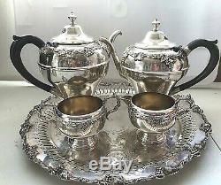 Assiette En Argent Vintage Reproduction Anglaise Vintage Sur Service À Café Thé Raisins