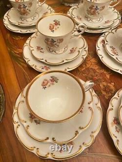 Assiettes À Gâteau Vintage De 10 Tasses Français Café En Porcelaine Marie-antoinette