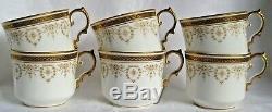 Aynsley Or Douaire Comme 21 Morceau Thé Café Set 1905-1925 Antique Cru