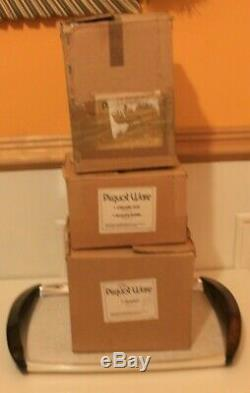 Belle New Rare Inutilisé Boxed Vintage Picquot Ware Thé / Café Set Avec Plateau