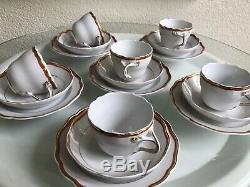 Belle Vintage Meissen Service À Café 18 Pièces Rare MID Century Minimalist 1960