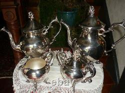 Birmingham Silver Co. Vintage 5 Pc. Ensemble Café/thé, Très Agréable