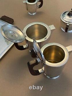 Café De Thé Art Déco Ensemble Argent Plaqué Métal Argenté Service Thé Café Vintage
