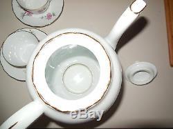 Café Français Vintage Set Porcelaine Limoges Berry Lourioux Signé Jantes Or