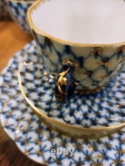 Cafetière Cobalt Net Avec Or 6 Pers Lomonosov Porcelaine Usine Lfz Urss