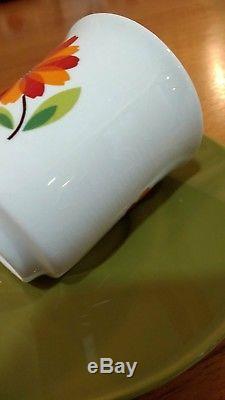 Cafetière Set'dahlia Vintage J & G Meakin Rouge Et Orange