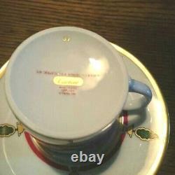 Cartier Vintage Authentic Espresso Cup Saucer Set Café Thé