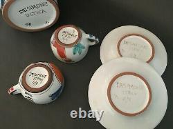 De Simone Original Vintage Sicilian Ceasic Tea Pot / Coffee Set Made In Italy