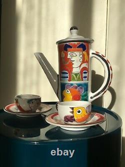 De Simone Vintage Original Sicilien Thé En Céramique Pot / Set Café Made In Italy