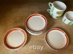 Desimone (de Simone) Peint À La Main Vintage Coffee/ Tea Set Made In Italy, Signé