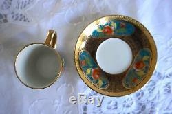 Ensemble À Café En Porcelaine Noritake Antique / Vintage Avec 4 Canettes De Café, 11 Tasses