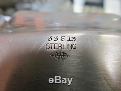 Ensemble À Café Vintage De 3 Pièces En Argent Sterling De Webster, Comprenant Un Plateau V Good Cond