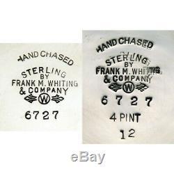 Ensemble À Thé Et Café Frank Whiting 6727 Vintage En Argent Sterling, 5 Pièces