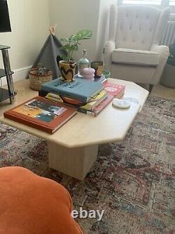 Ensemble De 2 Tables De Café En Marbre De Travertin Des Années 1980