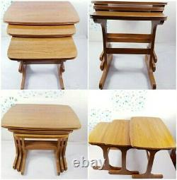 Ensemble De 3 MID Century Vintage Nest Of Coffee Tables Danois (rare)