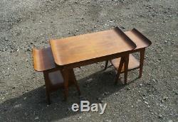 Ensemble De 3 Tables Basses Remploy Vintage, Années 1950, Bentwood Trio 2