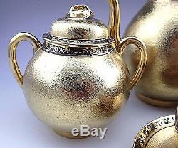 Ensemble De Café À Thé Vintage Nagoya Shofu Nippon Gold Pour Quatre