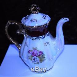 Ensemble De Café China Vintage 15 Pièces Design Japonais 'fresh' Effet Nacré